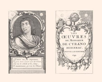 * [CYRANO DE BERGERAC]. Les OEuvres de Monsieur de Cyrano de Bergerac. S. l., 1741....