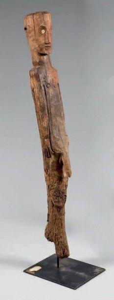 KONSO (Ethiopie) Poteau funéraire figurant...