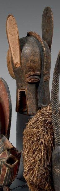 BAOULE (Côte-d'Ivoire) Masque heaume animalier...