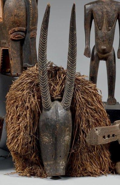 GOURO (Côte-d'Ivoire) Masque animalier aux...