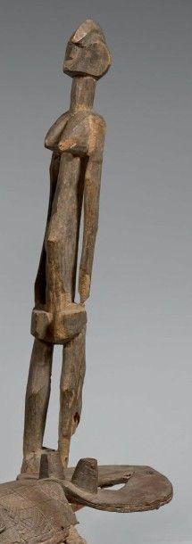 SENUFO (Côte-d'Ivoire) Ancienne statue féminine...