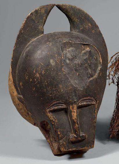BAOULE (Côte-d'Ivoire) Masque heaume en forme...