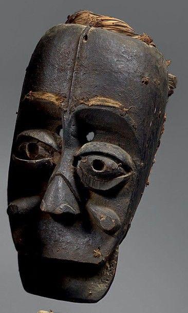 WE (Côte-d'Ivoire) Masque anthropo-zoomorphe...