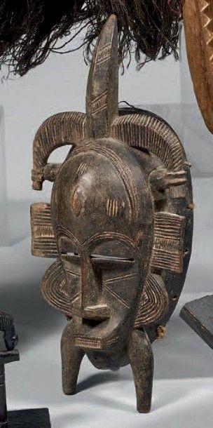 SENOUFO (Côte-d'Ivoire) Masque Kpelié classique,...