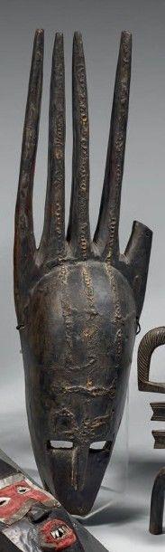 BAMANA (Mali) Grand masque «peigne», à la...
