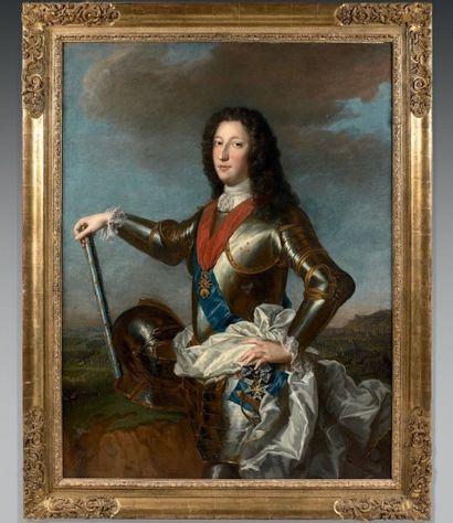 Alexis Simon BELLE (Paris 1674 - 1734) Portrait de Louis d'Orléans Toile. Inscription...