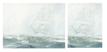 MARIN MARIE (1901-1987) Temps bouché dans la mer du Nord Aquarelle, signée en bas...