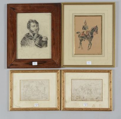 Henri Baud, dessin aquarellé signé et daté...