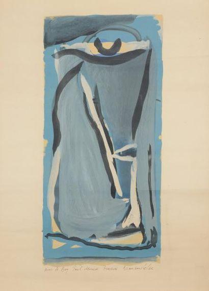 Composition en bleu Lithographie portant...
