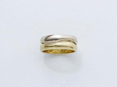 Cartier Bague 2 tons d'or 750 millièmes composée...