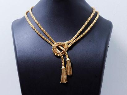 Collier cravate en or 750 millièmes composé...
