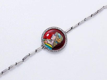Bracelet extensible en platine 850 millièmes...
