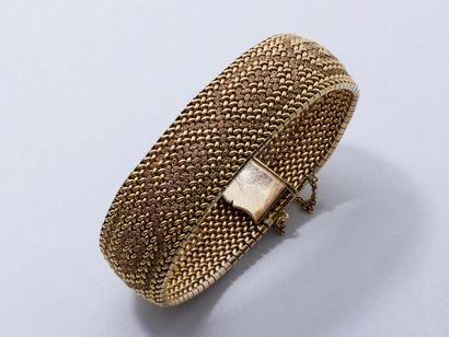Bracelet souple en or 750 millièmes tressé...