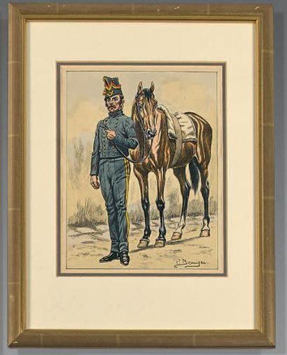 Chasseurs à cheval de la garde, tenue pour...