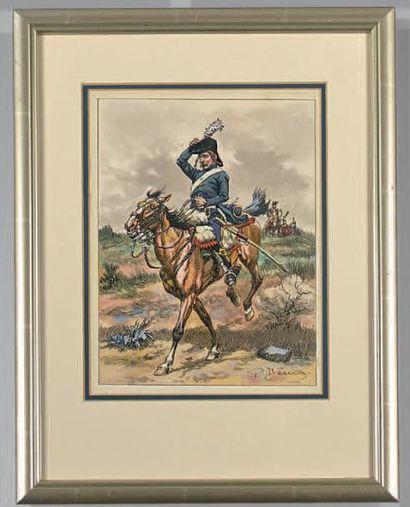 Guides d'état-major provenant du 5e hussards,...
