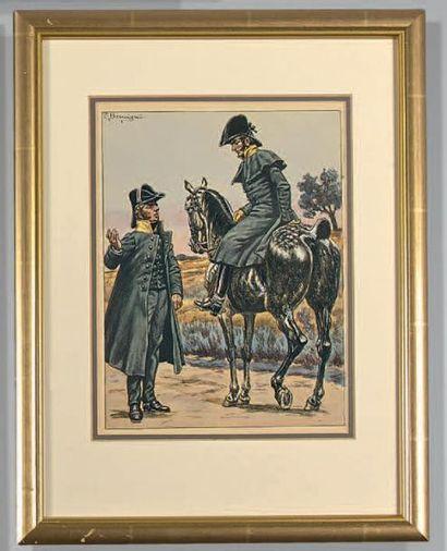 Chasseurs à cheval de la garde, palefrenier...