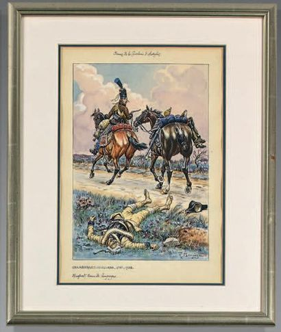 Chamborand hussard, 2e régiment, 1792, hussard...