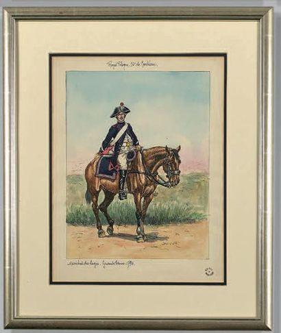 Royal Pologne 12e de cavalerie, maréchal...