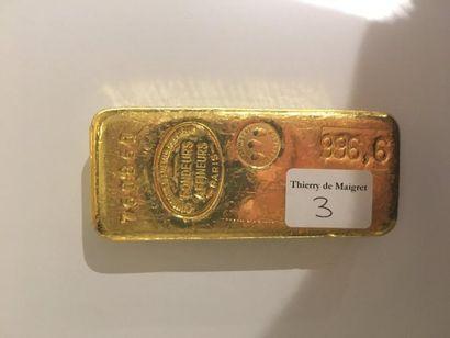 Lingot en or n°760860 Poids brut: 999.60...
