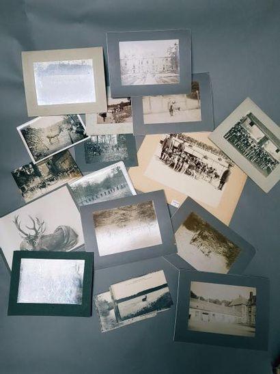 Fort lot de tirages photographiques anciens...