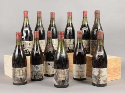 12 bouteilles GEVREY-CHAMBERTIN Besnard Frères...
