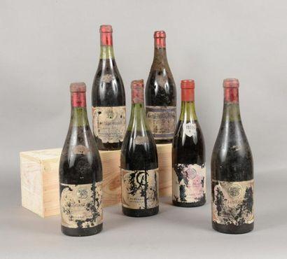 Ensemble de 6 bouteilles 4 bouteilles NUITS-SAINT-GEORGES...