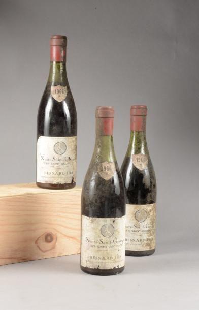3 bouteilles NUITS-SAINT-GEORGES «Les Saints-Georges»,...