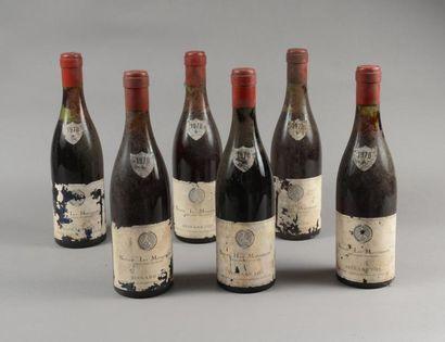 6 bouteilles BEAUNE «Les Marconnets», Besnard...