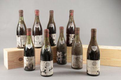 9 bouteilles VOLNAY «Santenots», Besnard...