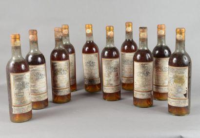 10 bouteilles CH. RABAUD-PROMIS, 1° cru Sauternes...