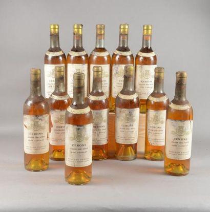 12 bouteilles CLOS L'AVOCAT, Cérons (Mise...