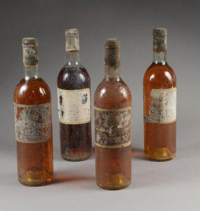 3 bouteilles CH. SUDUIRAUT, 1° cru Sauternes 1966 (1 J, 1 TLB, 1 MB; eta & fanées...