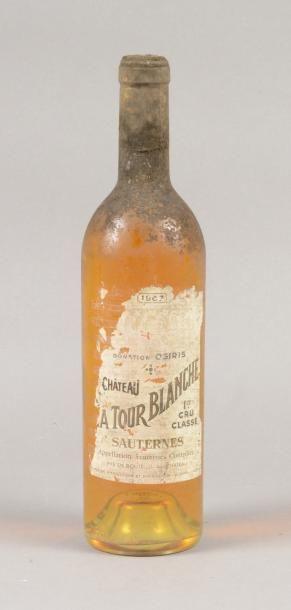 1 bouteille CH. LA TOUR BLANCHE, 1° cru Sauternes...