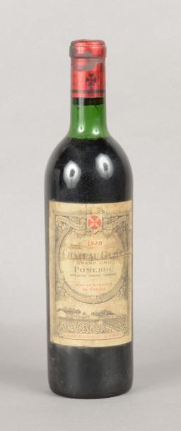 1 bouteille CH. GAZIN, Pomerol 1970 (es,...