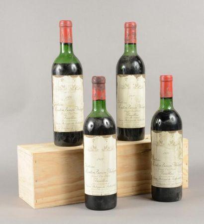 4 bouteilles CH. MOUTON BARON PHILIPPE, 5°...