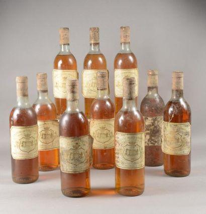 10 bouteilles CH. DOISY VEDRINES, 2° cru...