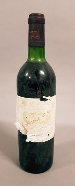 1 bouteille CH. MARGAUX, 1° cru Margaux 1975...