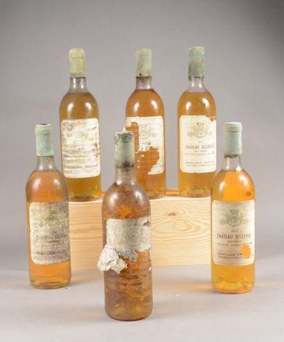 6 bouteilles CH. BELLEVUE, Sauternes [2 de...
