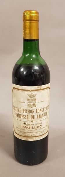 1 bouteille CH. PICHON-LONGUEVILLE-COMTESSE-DE-LALANDE,...
