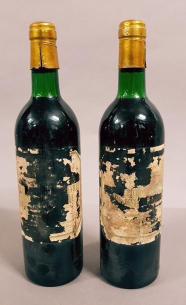 2 bouteilles CH. PICHON-LONGUEVILLE-COMTESSE-DE-LALANDE,...