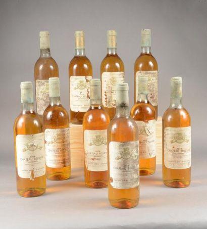 10 bouteilles CH. BELLEVUE, Sauternes 1976...