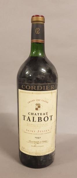 1 magnum CH. TALBOT, 4° cru Saint-Julien...