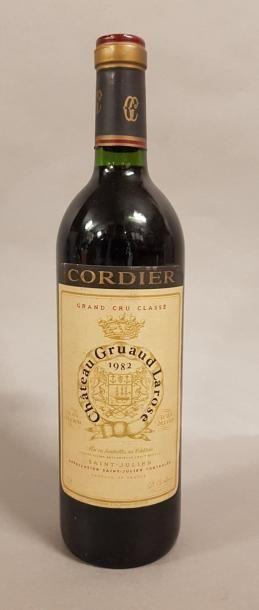 1 bouteille CH. GRUAUD-LAROSE, 2° cru Saint-Julien 1982 (etlt)