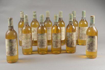 12 bouteilles CH. BELLEVUE, Sauternes 1978...
