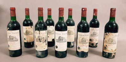 8 bouteilles CH. VIRELADE, Graves (6 de 1983,...