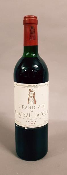 1 bouteille CH. LATOUR, 1° cru Pauillac 1984...