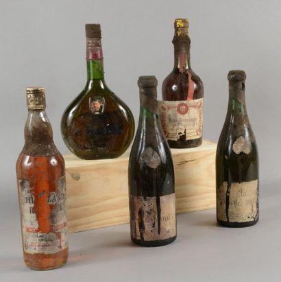 Ensemble de 5 bouteilles 2 bouteilles VIELLE...