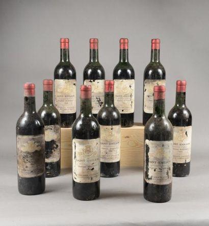 10 bouteilles CH. BEZINEAU, St-Emilion 1955...