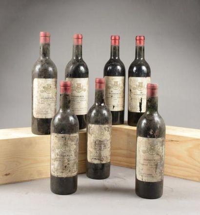 7 bouteilles CH. LA SOULATE, Pomerol 1955...
