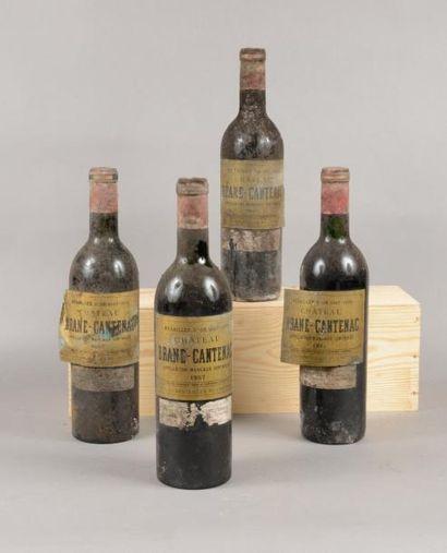 4 bouteilles CH. BRANE-CANTENAC, 2° cru Margaux...